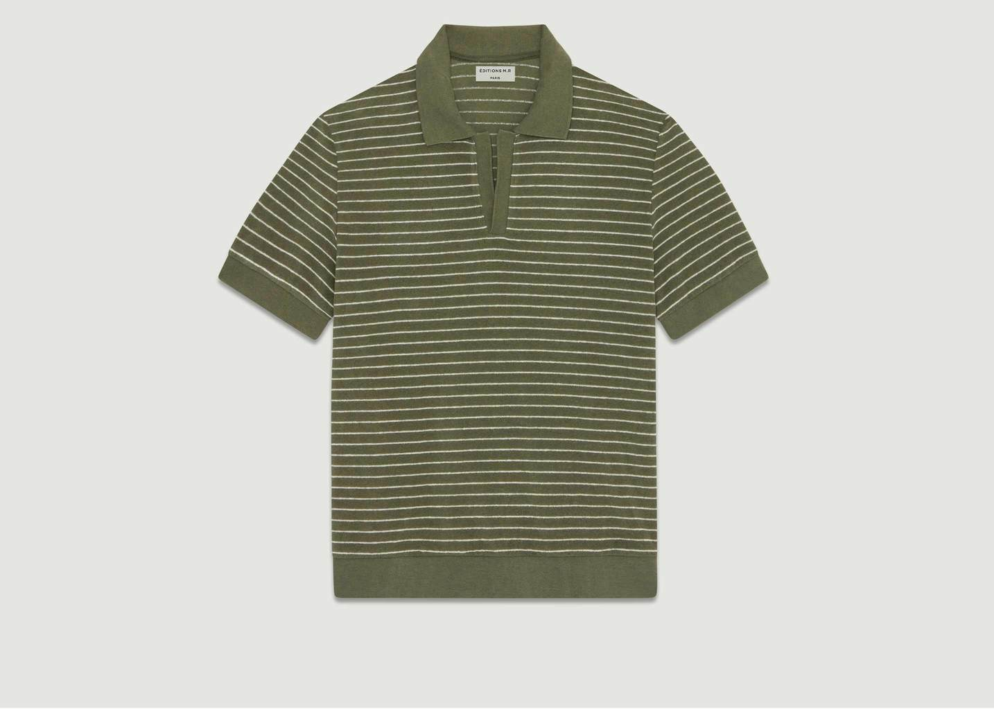 Polo Sean Rayé Olive - Editions M.R