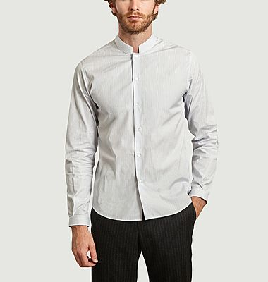 St-Honoré Mao collar striped shirt