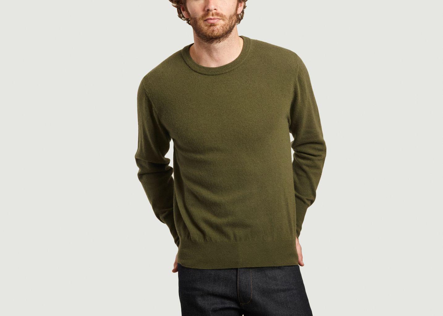 Pull en laine mérinos et cachemire John - Editions M.R