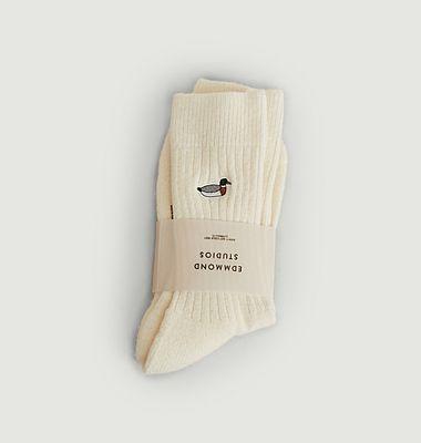 Chaussettes avec patch canard