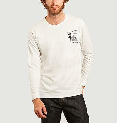 T-shirt manches longues imprimé Shinobii