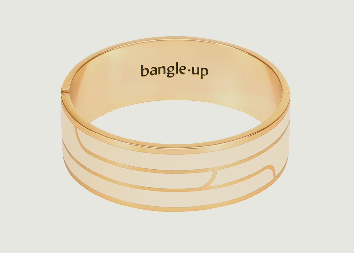 Bracelet Gaya Blanc Sable - Bangle Up