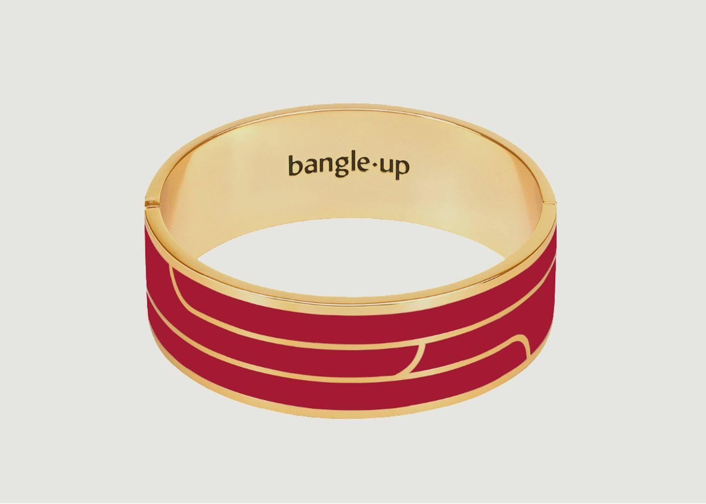 Bracelet Gaya Rouge Velours - Bangle Up