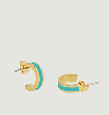 Bangle mini hoop earrings