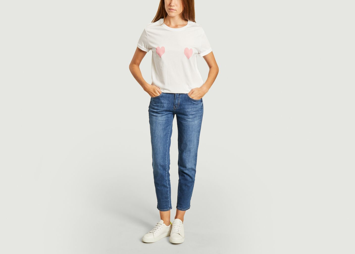 T-shirt coeurs roses  - Elise Chalmin