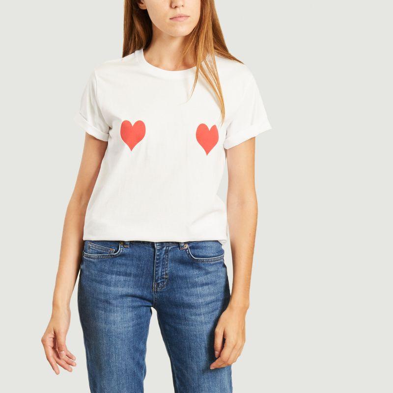 T-shirt coeurs rouges - Elise Chalmin