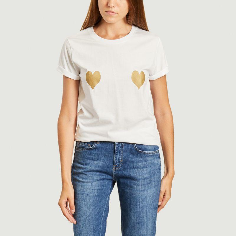 T-shirt coeurs dorés  - Elise Chalmin