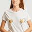 matière T-shirt coeurs dorés  - Elise Chalmin
