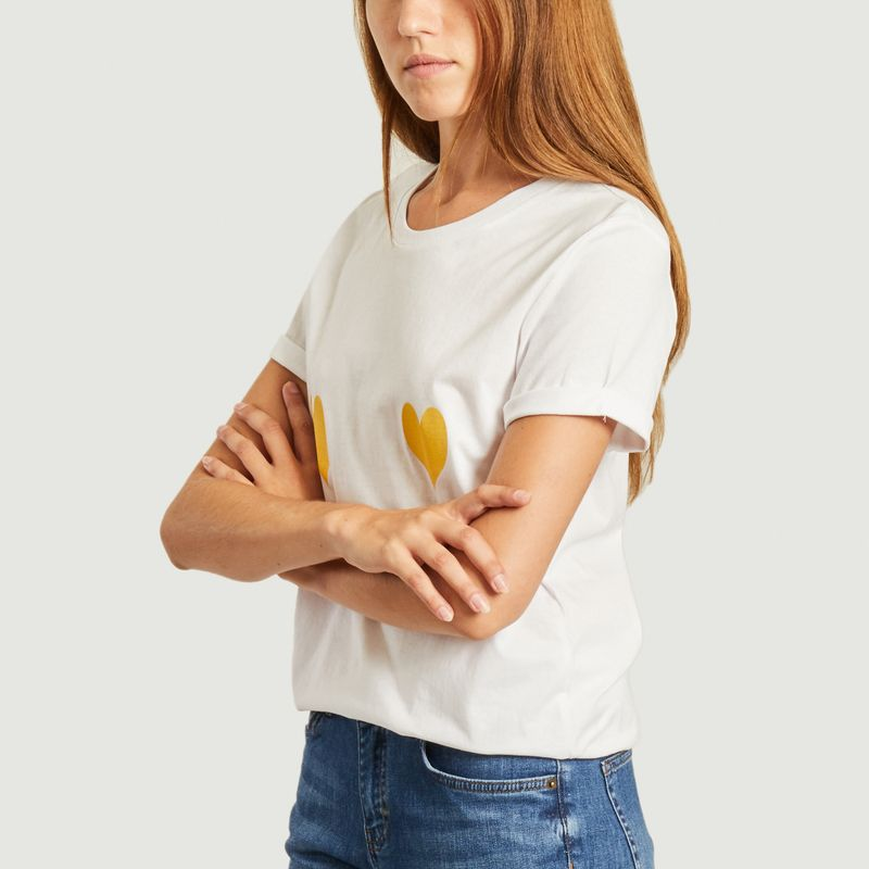 T-shirt coeurs jaunes  - Elise Chalmin