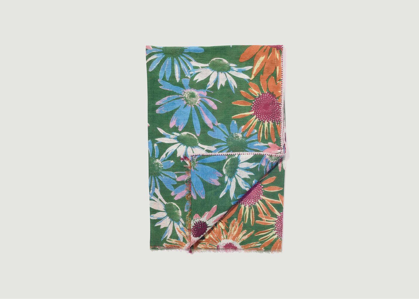 Etole en laine et cachemire motif fleuri SW 2170 - Epice