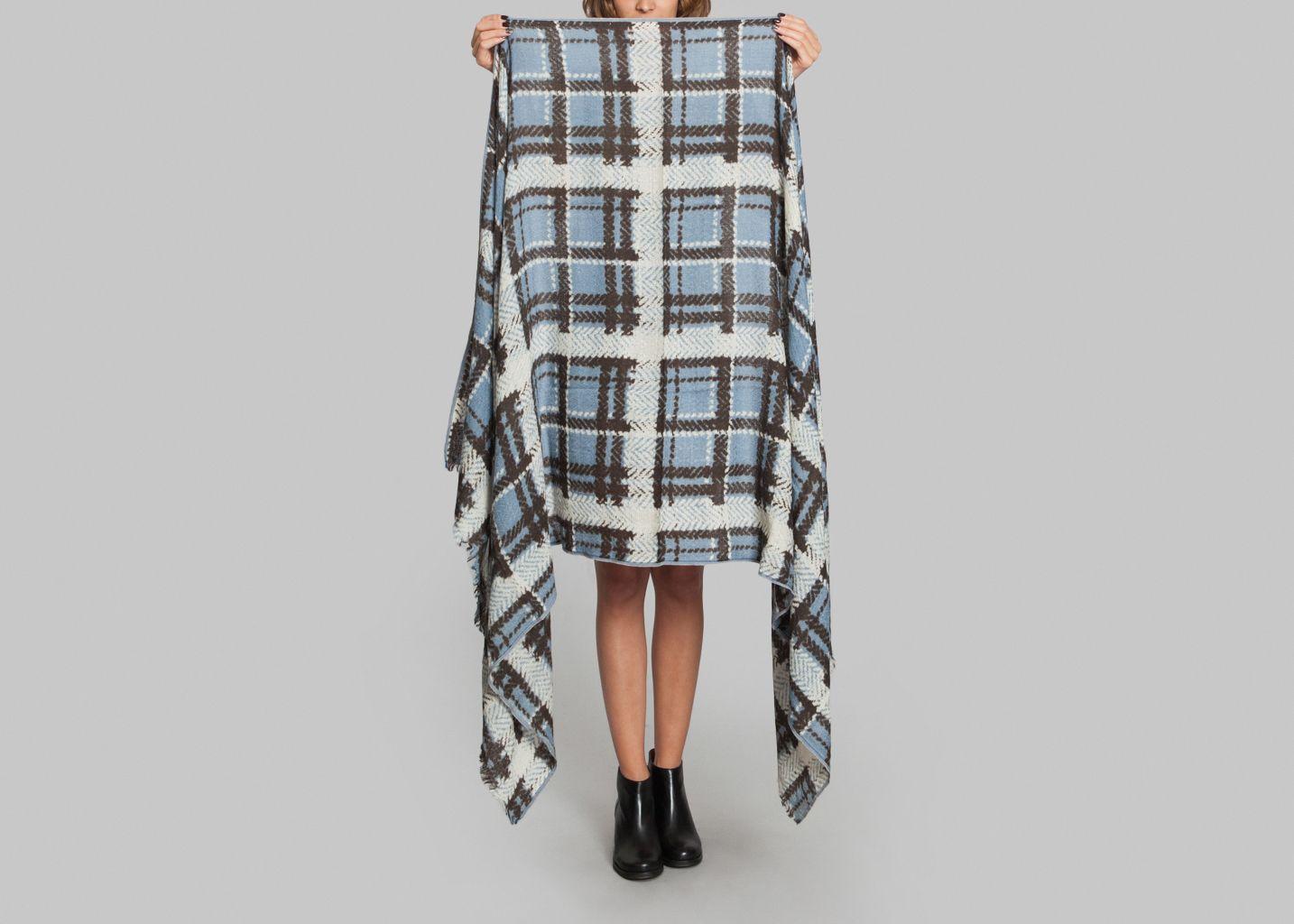 foulard plaid epice bleu p trole l 39 exception. Black Bedroom Furniture Sets. Home Design Ideas