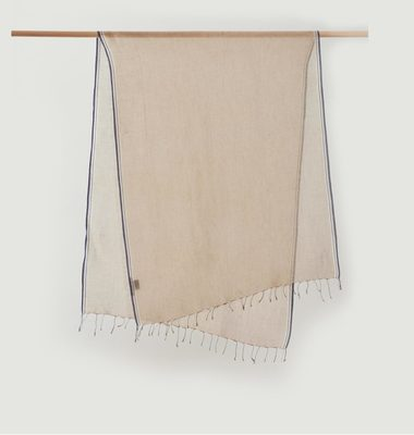 Linen And Cotton Scarf With Fringes