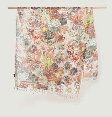 Floral Pattern Cotton Stole