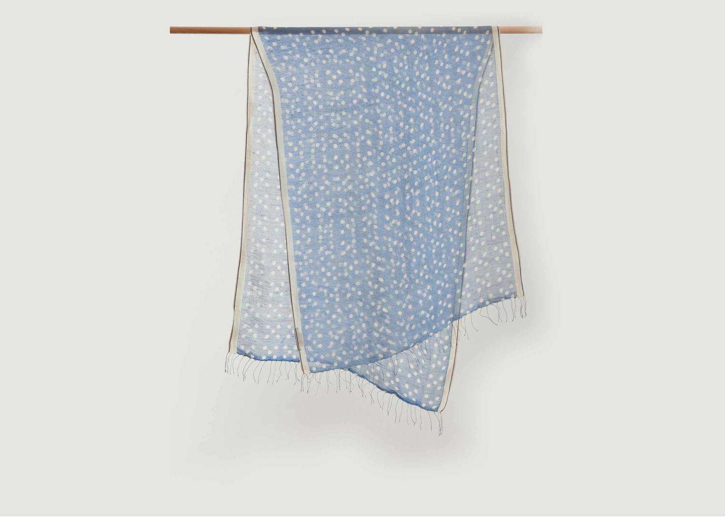 Polka Dots Pattern Linen And Cotton Scarf - Epice