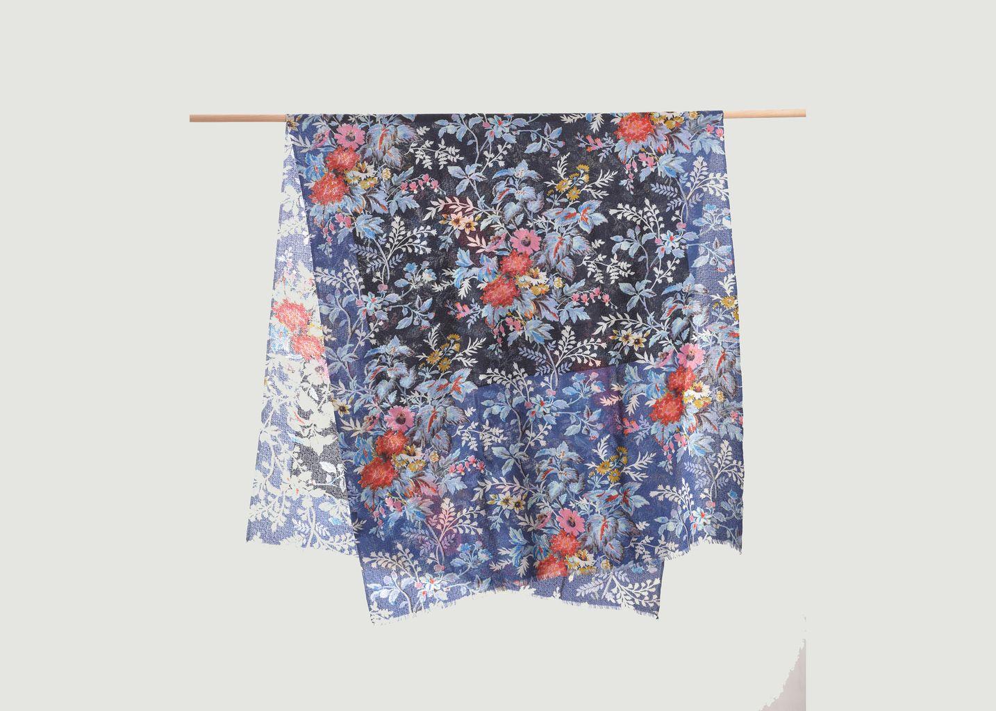 Écharpe fleurie en laine - Epice