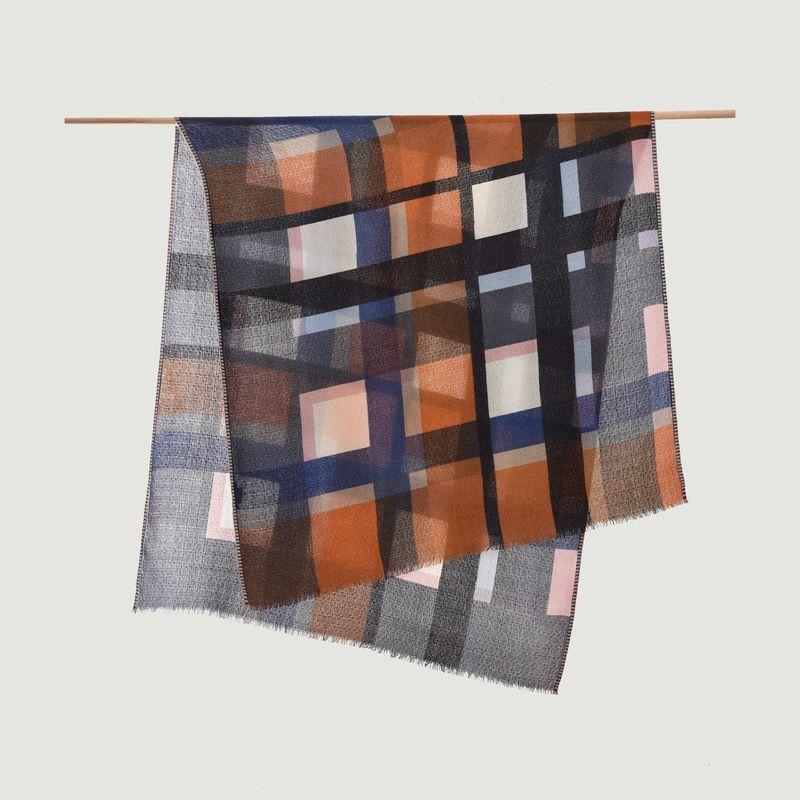 Écharpe en laine à carreaux - Epice
