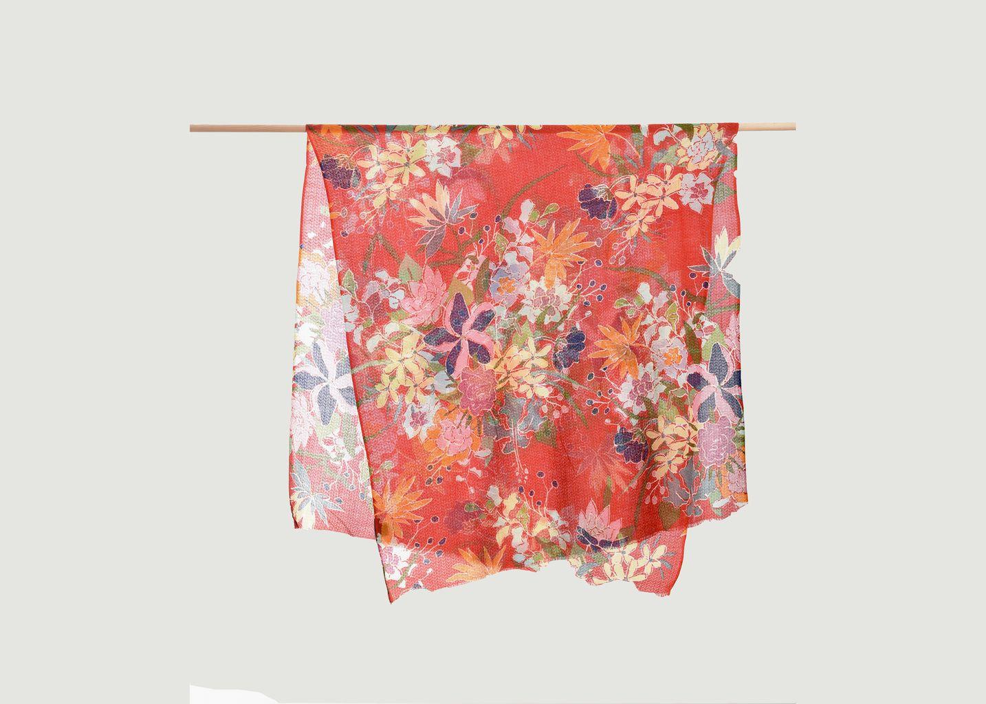 Echarpe motif fleuri en laine - Epice