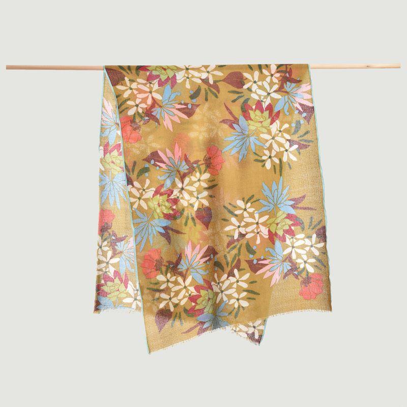 Étole à fleurs en laine, soie et cachemire - Epice