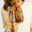 matière Étole à fleurs en laine, soie et cachemire - Epice