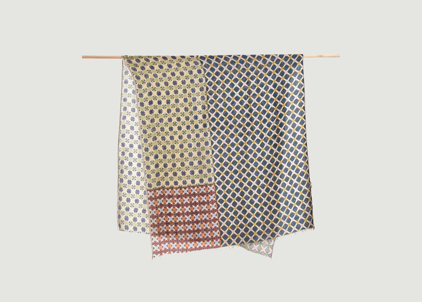 Echarpe motif géométrique en laine et cachemire - Epice