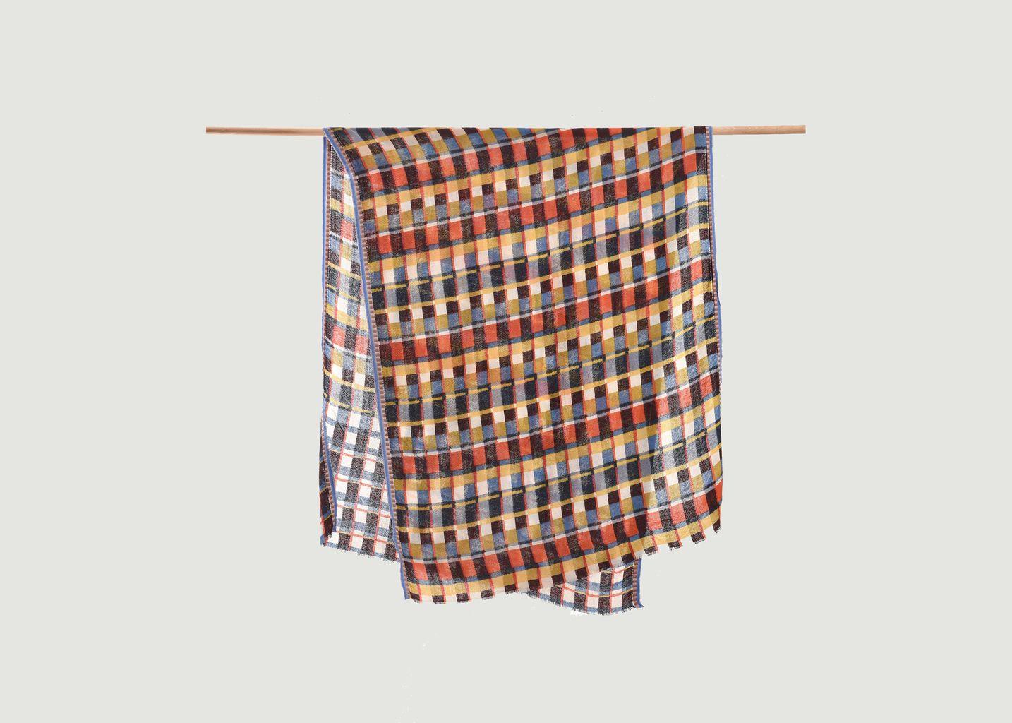 Etole en laine à petit carreaux - Epice