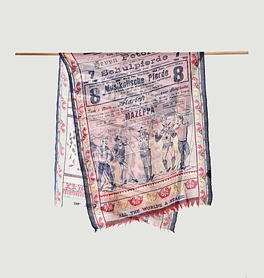 Circus print wool stole