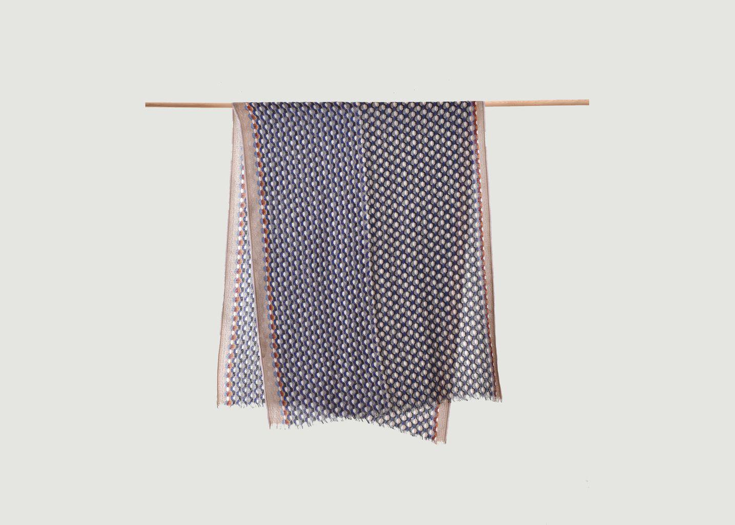 Étole en laine motif graphique - Epice