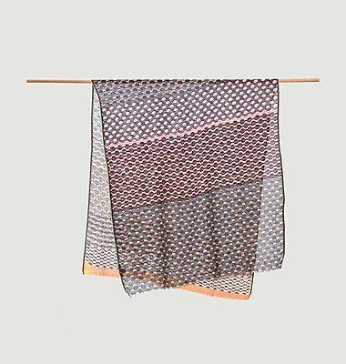 Echarpe multicolore motif géométrique en laine