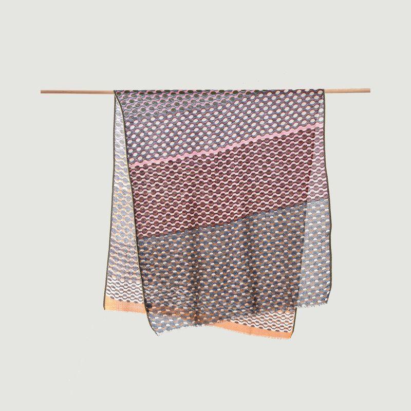 Echarpe multicolore motif géométrique en laine - Epice