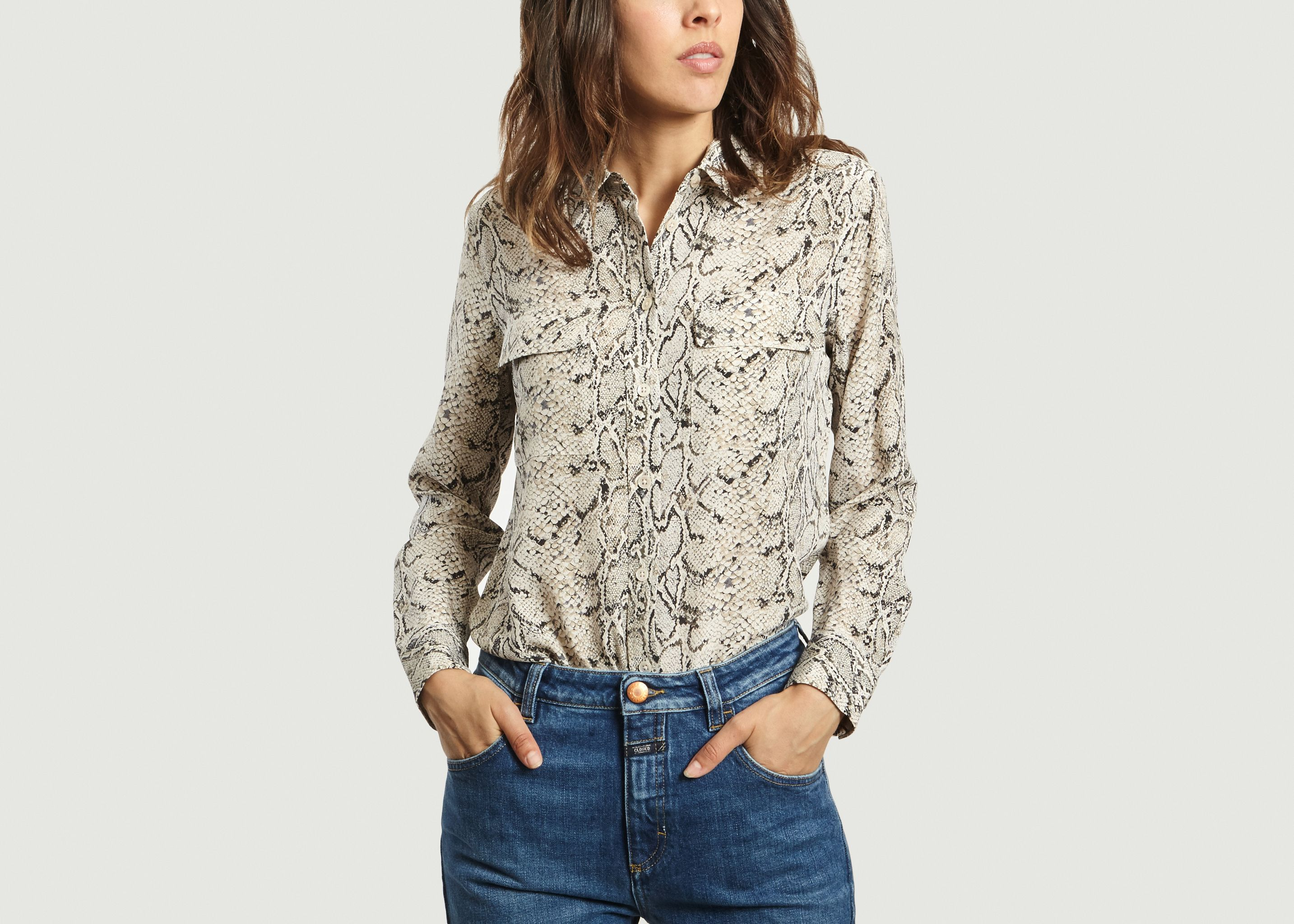 a3bc4c82937cc Signature Python Shirt Beige Equipment