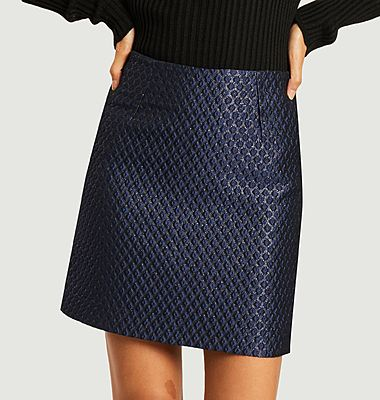 Katy brocade short skirt
