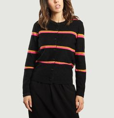Stacy Striped Cardigan