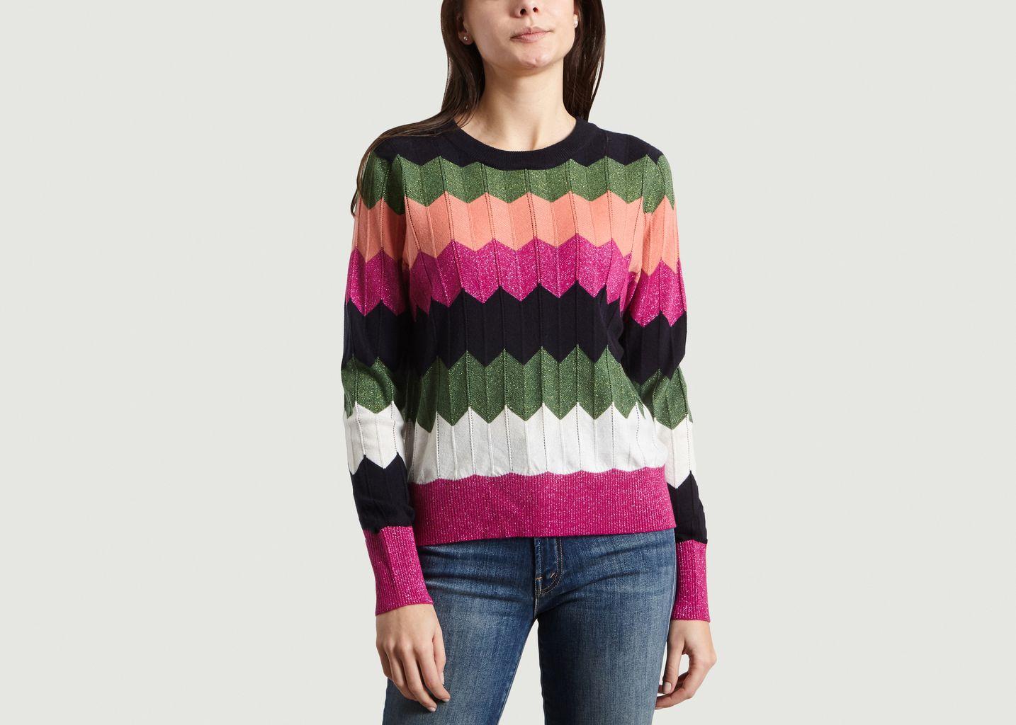 Pull Susan à Zigzag Multicolore Essentiel