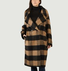 Manteau Oversize A Carreaux Roasted