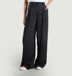 Sharron Crepe Striped Trousers