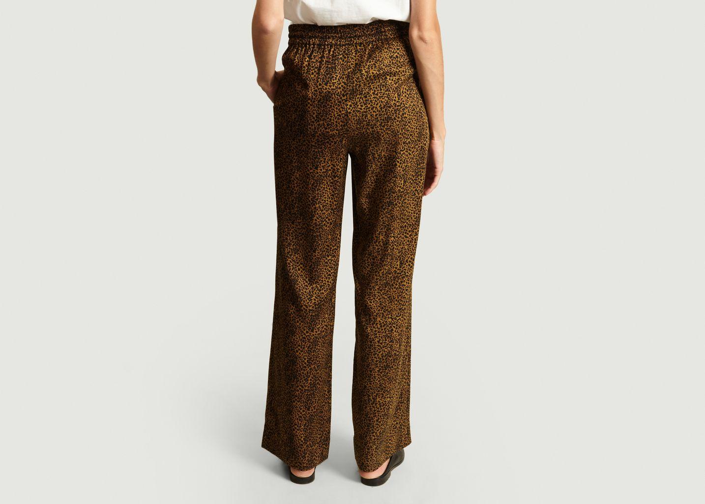 Pantalon Élastiqué Léopard - Essentiel Antwerp