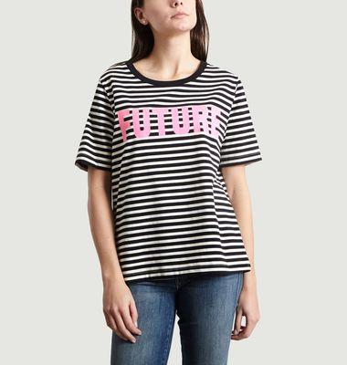 T-Shirt Rayé Print Future Sibamba