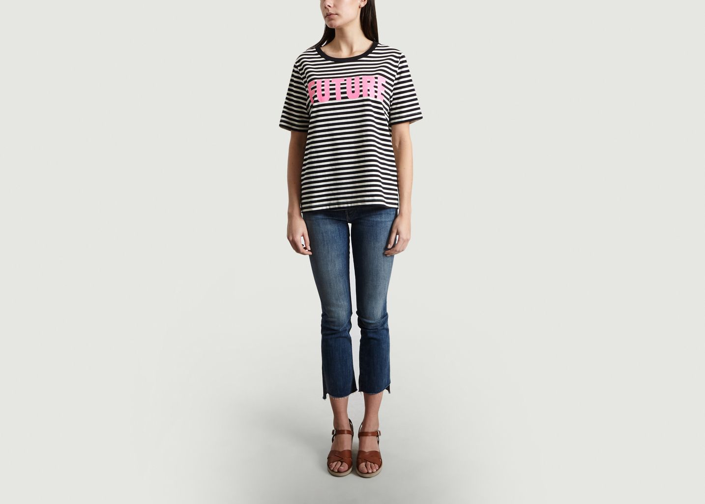 T-Shirt Rayé Print Future Sibamba - Essentiel Antwerp