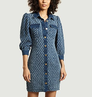 Vada denim mini dress