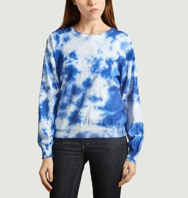 Verneuil Tie and Dye Print Cotton Sweater