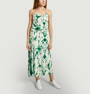 Viajar Tie and Dye Print Dress