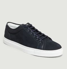 Sneakers En Cuir Nubuck Low 1