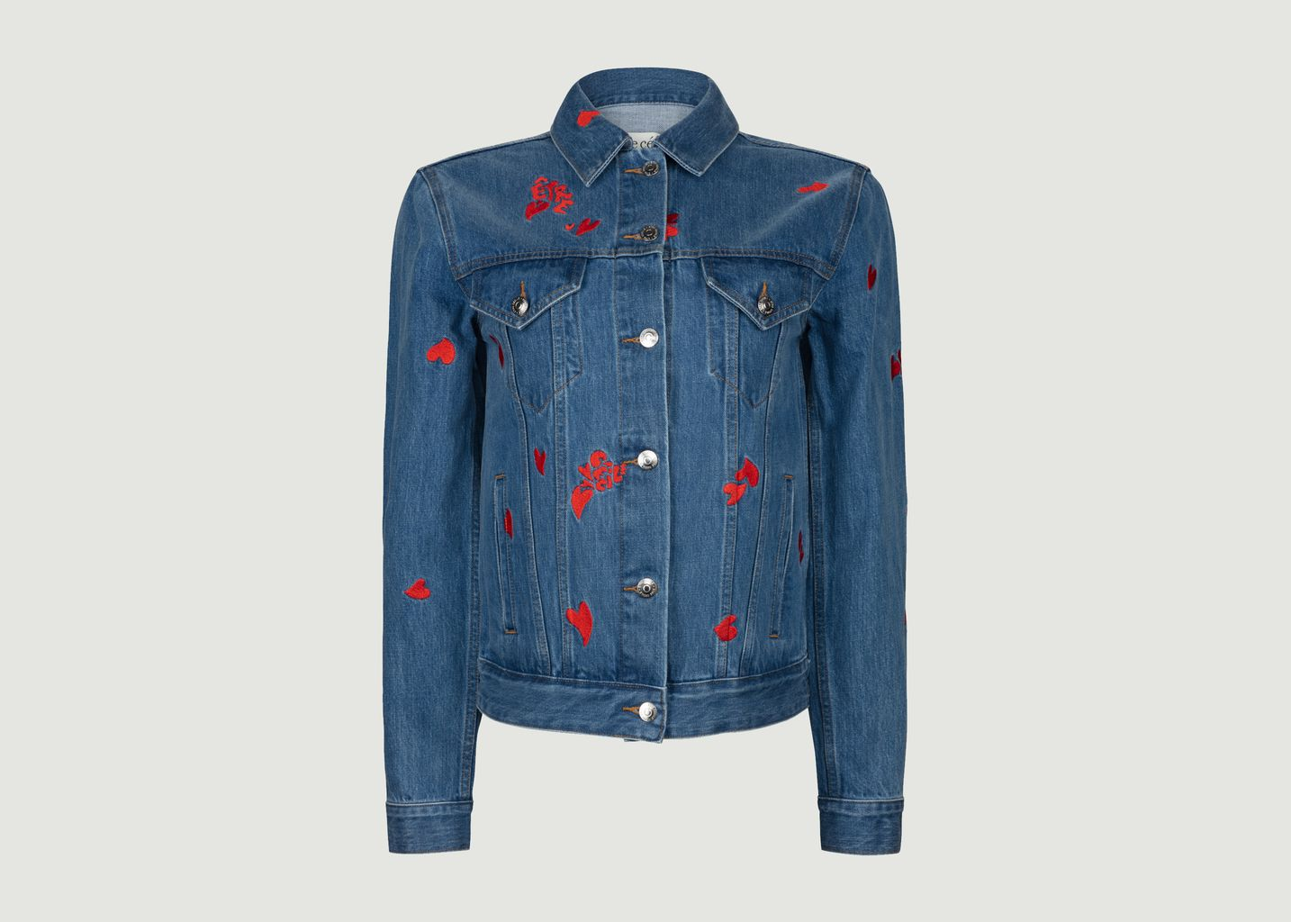 Veste en jean Camou Heart All Over - Être Cécile