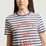 matière T-shirt rayé imprimé In Fries We Trust - Être Cécile
