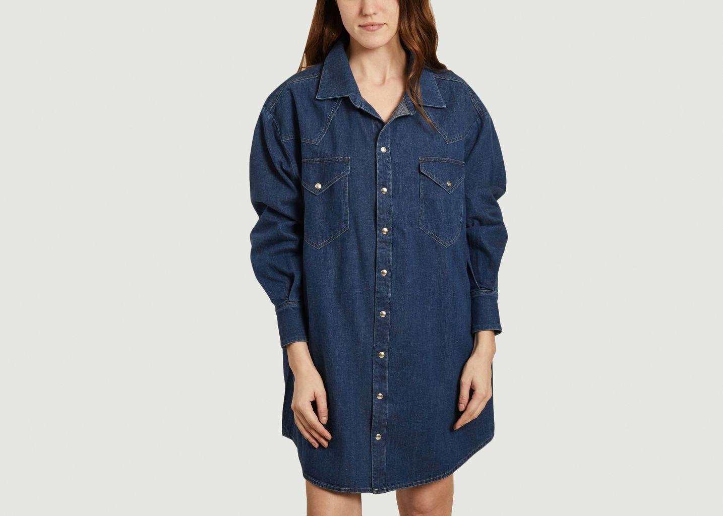 Robe-chemise oversize en jean Gloria - Façon Jacmin