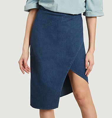 Jovoy asymmetrical midi skirt