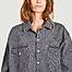 matière Robe-chemise courte oversize en denim Gloria - Façon Jacmin