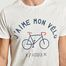 matière T-Shirt Print J'Aime Mon Vélo Arcy - Faguo