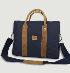Navy Canvas Laptop Bag
