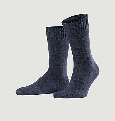 Chaussettes en maille chinée Denim.ID